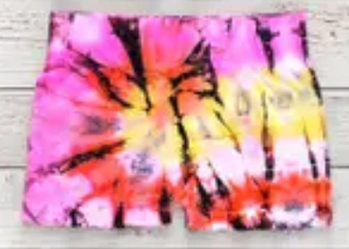 MALIBU SUGAR Rainbow Tie Dye Shorts