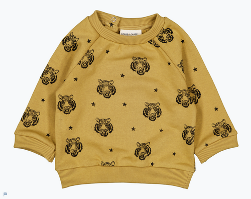 LOUIS LOUISE Baby Sand Sweatshirt James Tiger, fleece