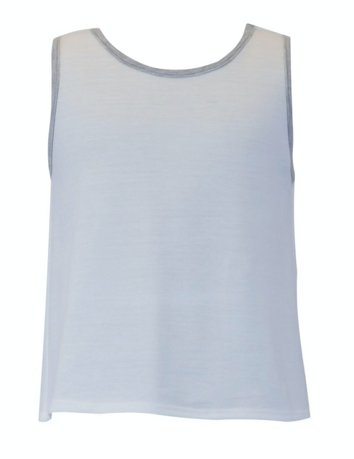 FOR ALL SEASONS French Terry Sleeveless Tank w/ Contrast Trim