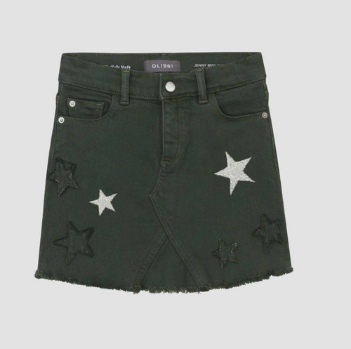 DL1961 Jenny Mini Skirt Palm Star