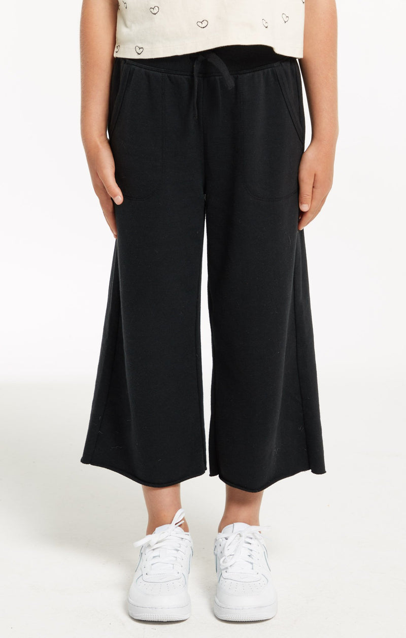 Z SUPPLY Girls Quincy Crop Black Pant