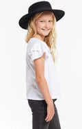 Z SUPPLY Girls Ruffle Tee - White