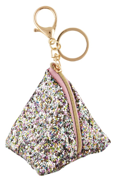 FASHION ANGELS Chunky Glitter Triangle Pouch Bag Charm