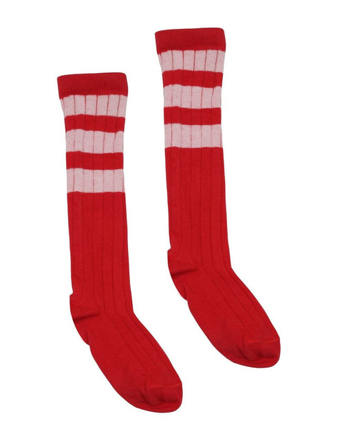 VELVETEEN Laurene Stripe Cotton Lurex Socks