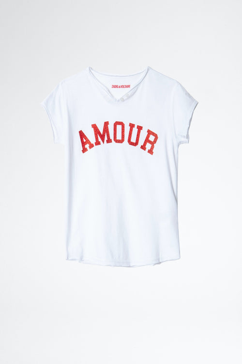 ZADIG & VOLTAIRE White Amour T-shirt Boxo