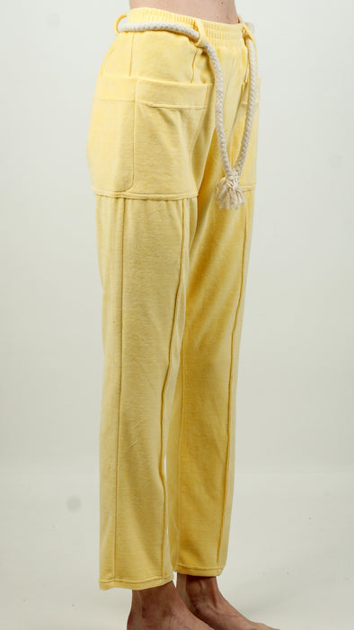 Maison MRL Velvet Trackpants Yellow