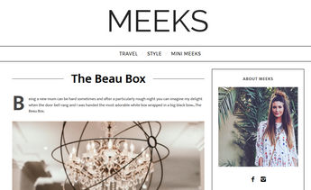 'These stunning boxes are set to revolutionise not only the baby gifting world but the perception of motherhood in general', Meeks Blog, Feb 2017