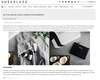 In The Know: Cool Things For Parents, SheerLuxe.com,  Feb 2017