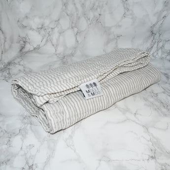 Grey Stripe Organic Cotton Swaddle