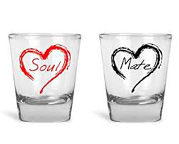 Soul Mate Couple Shot Glasses Set Of 2