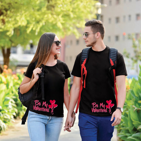 Be My Valentine Black Couple Tees