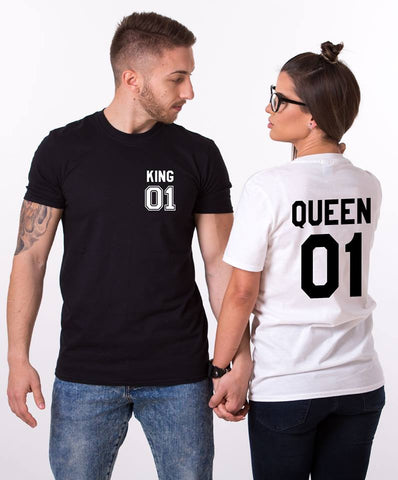 King Queen Pocket Tees