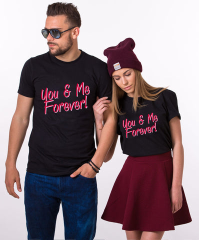 You And Me Forever Black Couple Tees