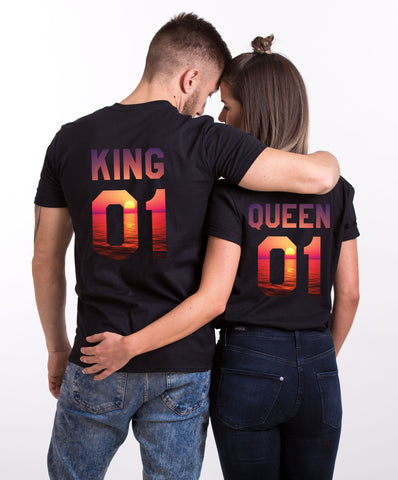 King 01 Queen 01 Royal Couple Tees
