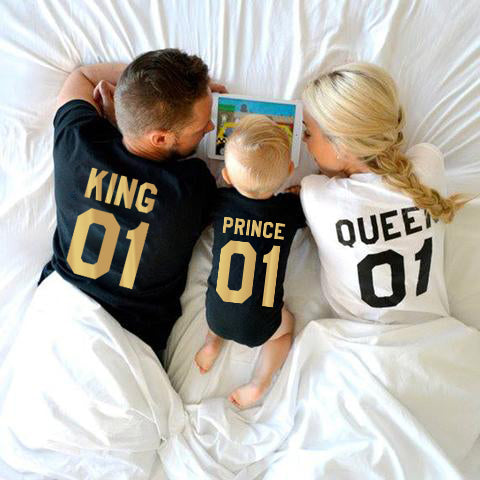 King Queen Prince Family Tees