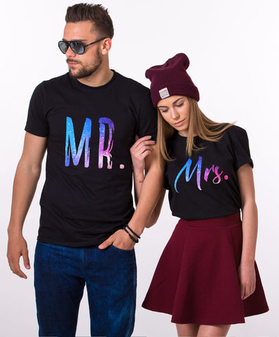 Mr Mrs Couple Tees