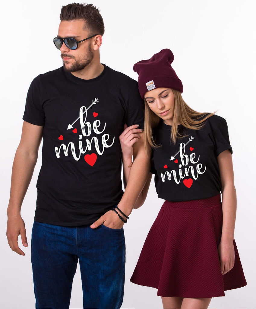 Be Mine Black Tees