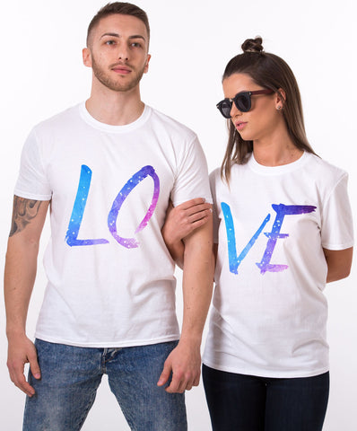 LO VE White Royal Couple Tees