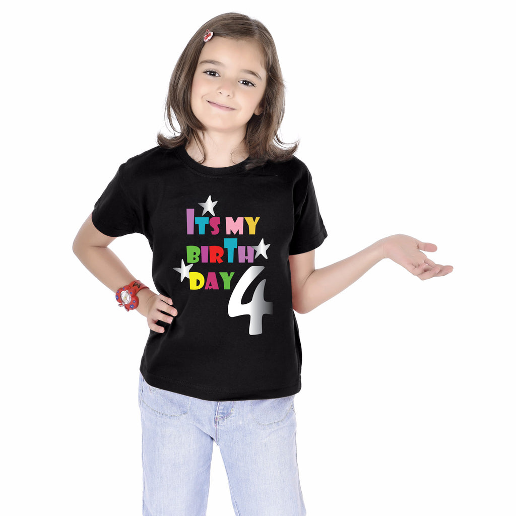 Fourth Birthday kids Tees