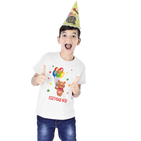 Birthday Boy Kids Tees (White)