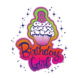 Birthday Girl kids Tees (White)