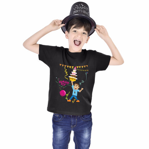 Birthday Boy Cake Kids Tees