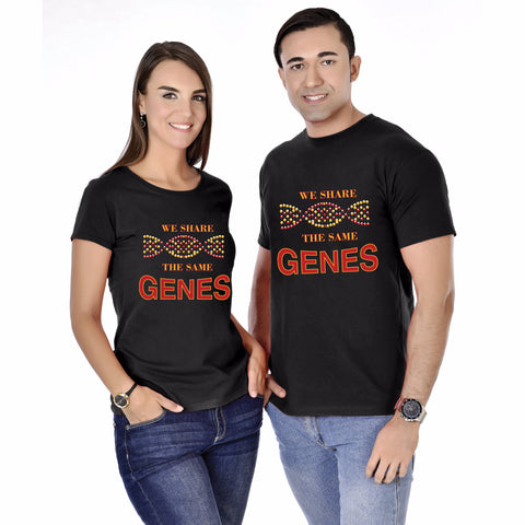 We Share The Same Genes Siblings Tee