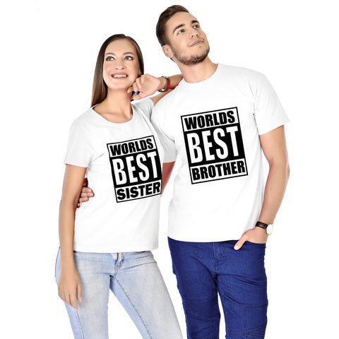 World's Best Brother/Sister Siblings Tee