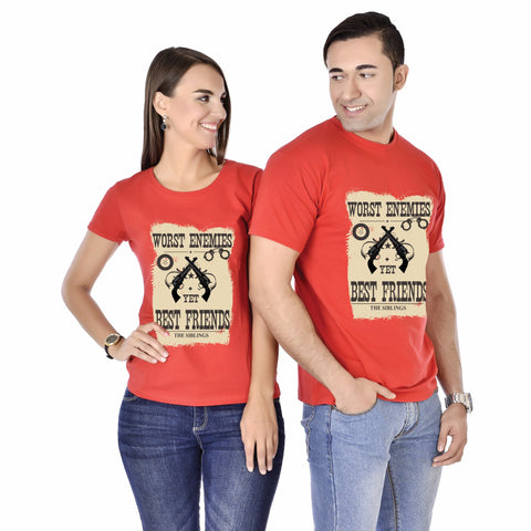 Worst Enemies Yet Best Friends Siblings Tee