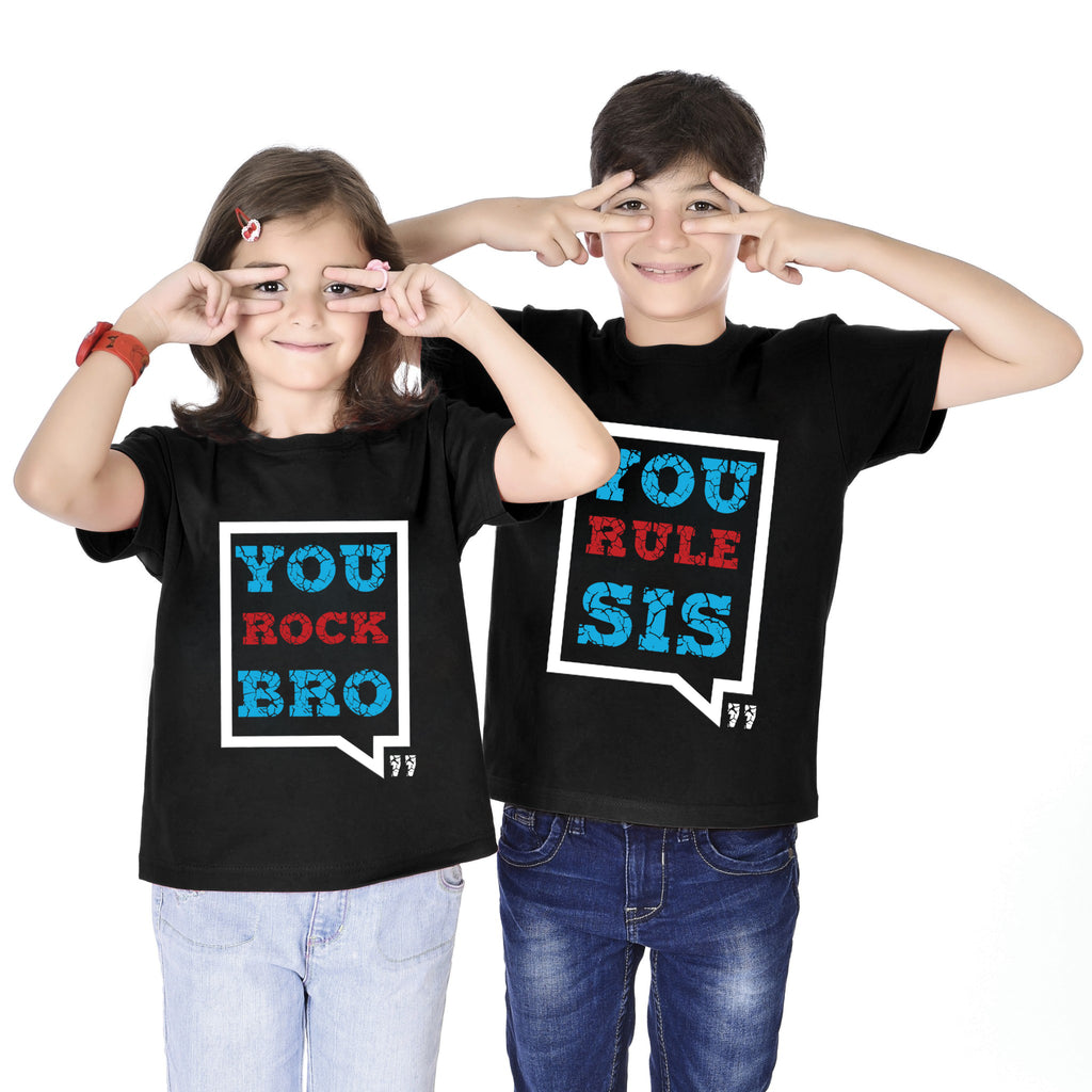 You Rock Bro/You Rule Sis Tees
