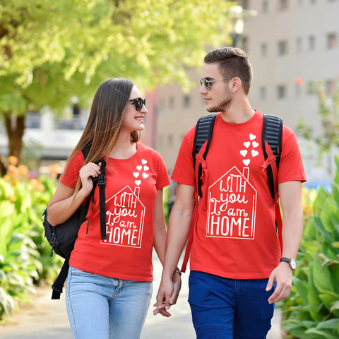 Home Is Where I Am With You Couple Tees