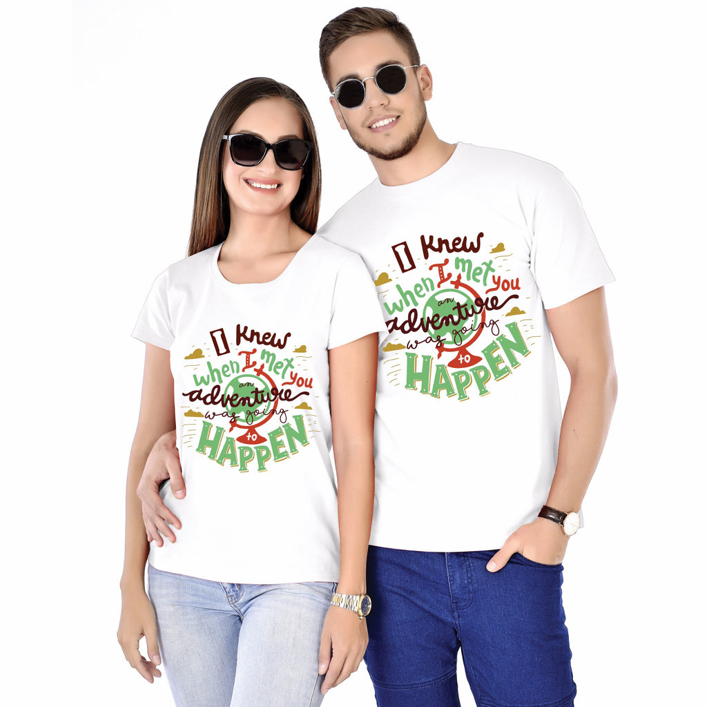 I Knew When I Met You Couple Tees