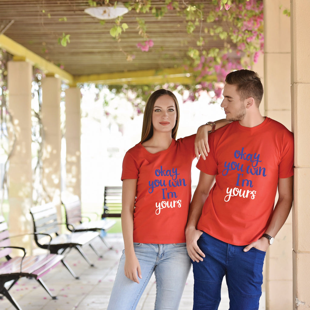Okay You Win I Am Yours Couple Tees