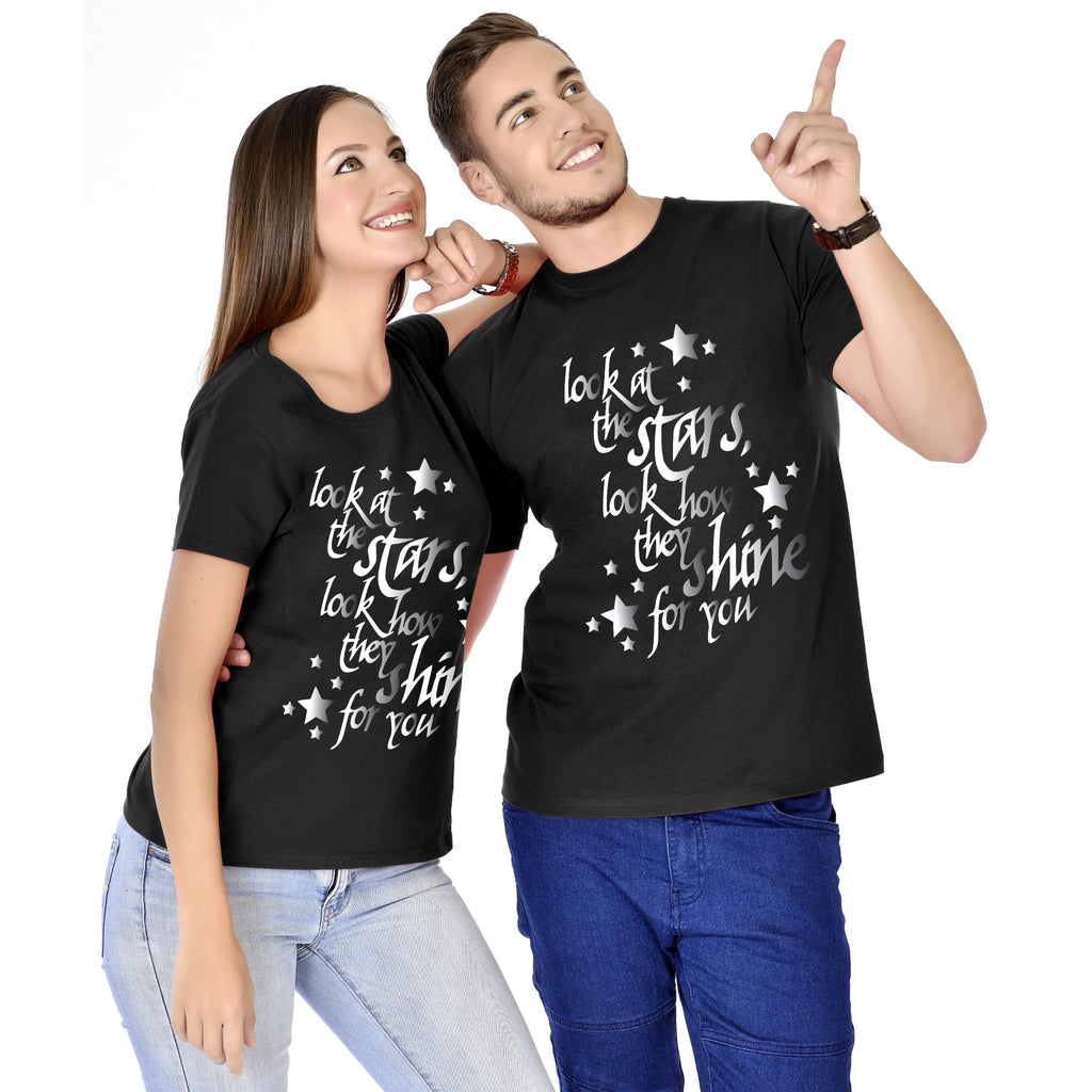 Look At The Stars Couple Tees