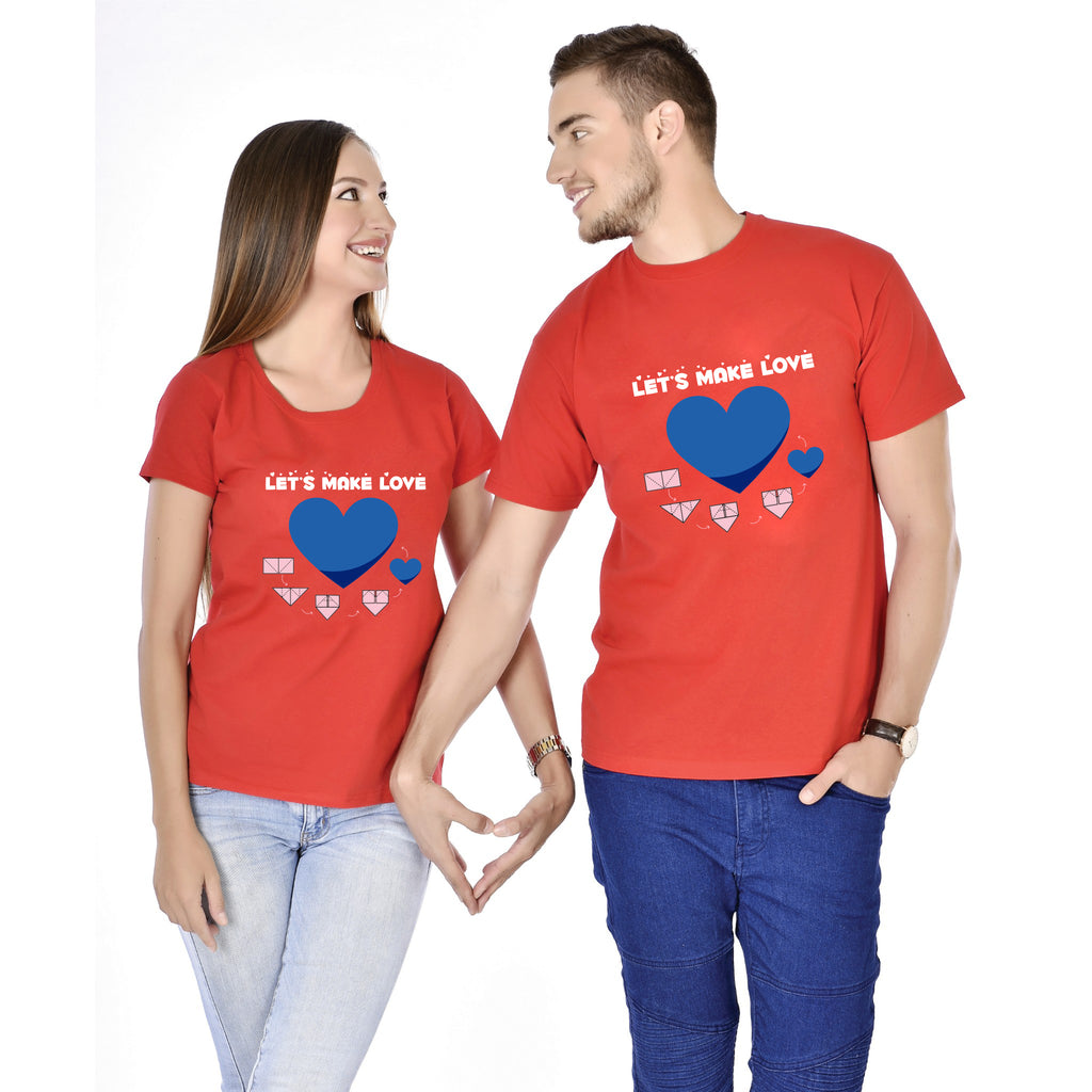 Lets Make Love Couple Tees