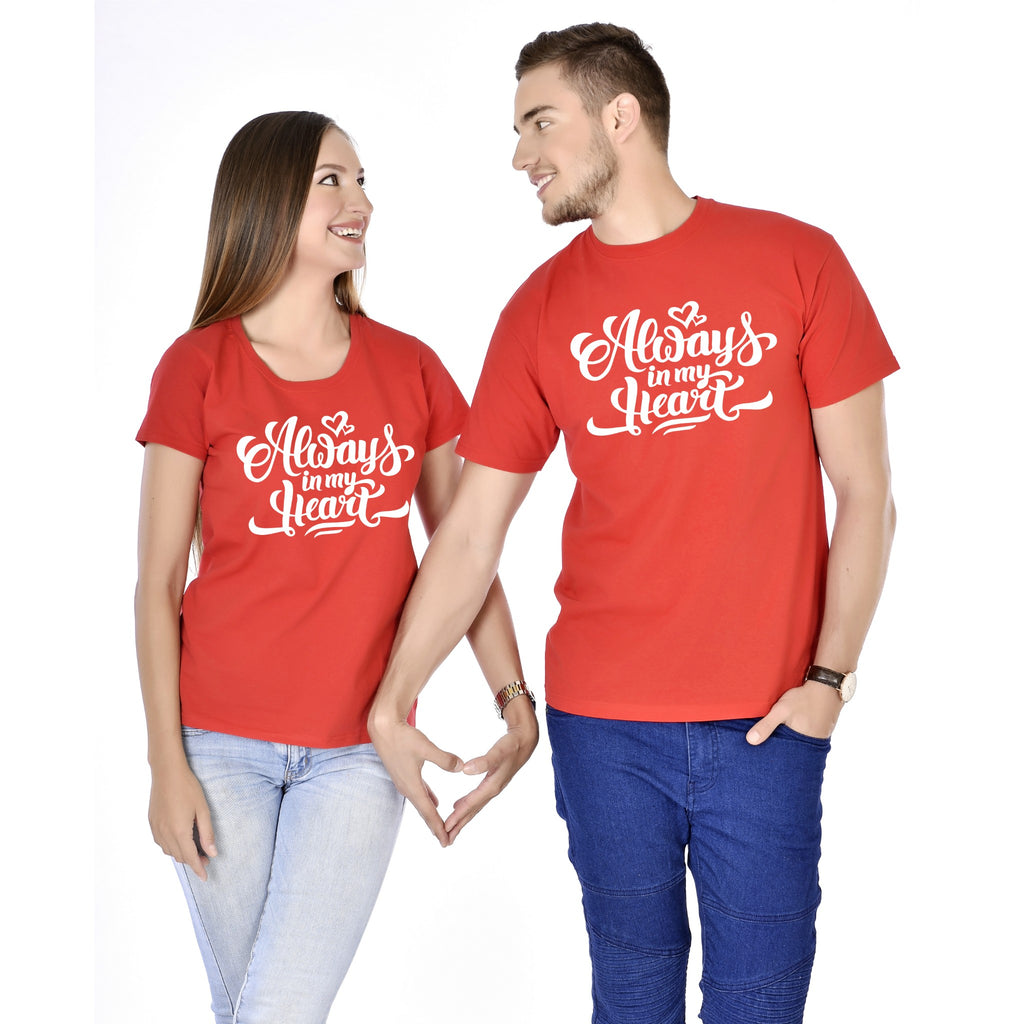 Always In My Heart Couple Tees