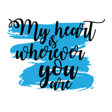 My Heart Is Where You Are Couple Tees