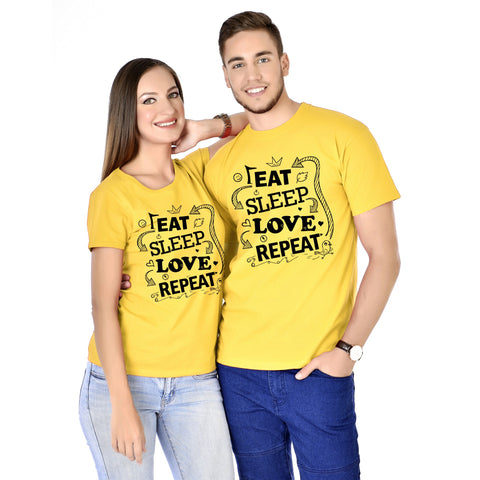 Eat Sleep Love Repeat Couple Tees