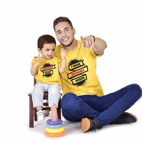 Adorable Baby Father And Baby Tees