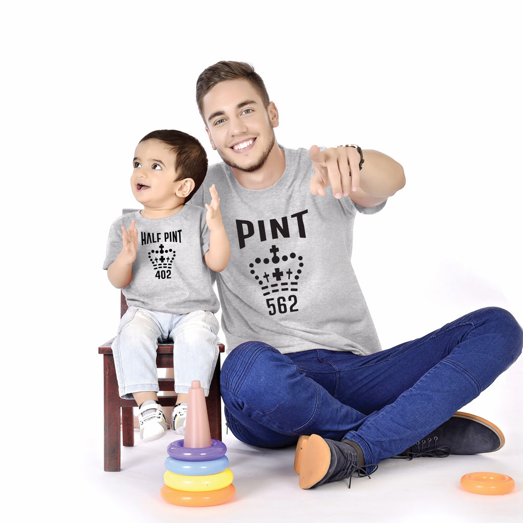 Pint/Half Pint Father And Baby Tees