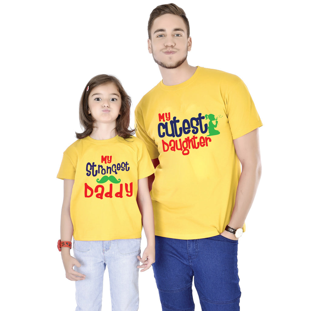Strongest Daddy/Cutest Daughter Tees