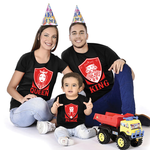 King Queen Prince Family With Baby Tees