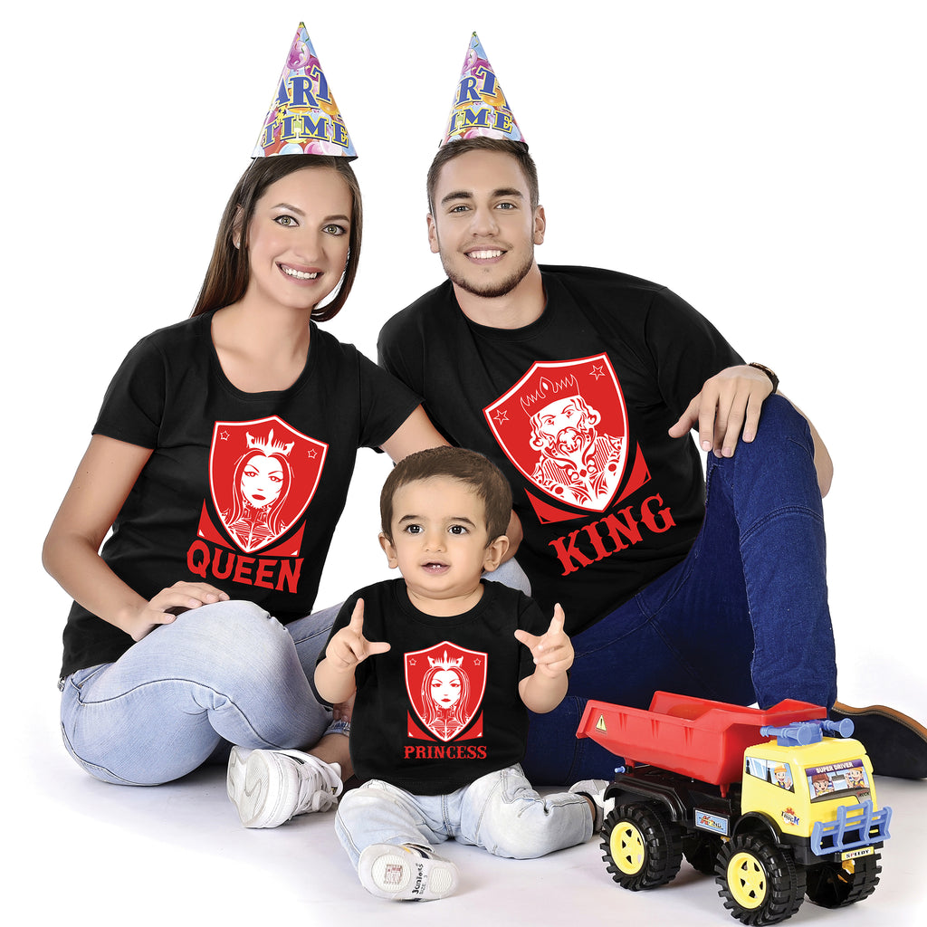 King Queen Princess Family With Baby Tees