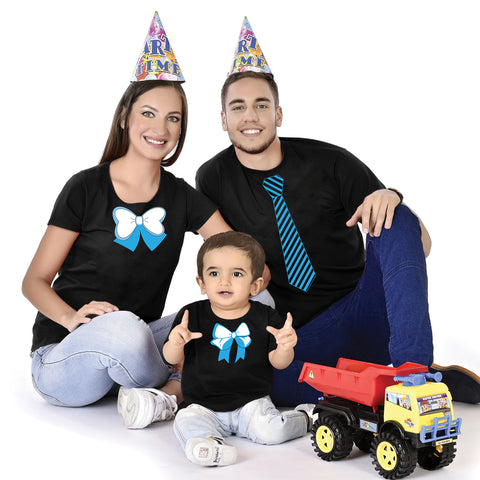 Tie Bow Designer Family With Baby Tees