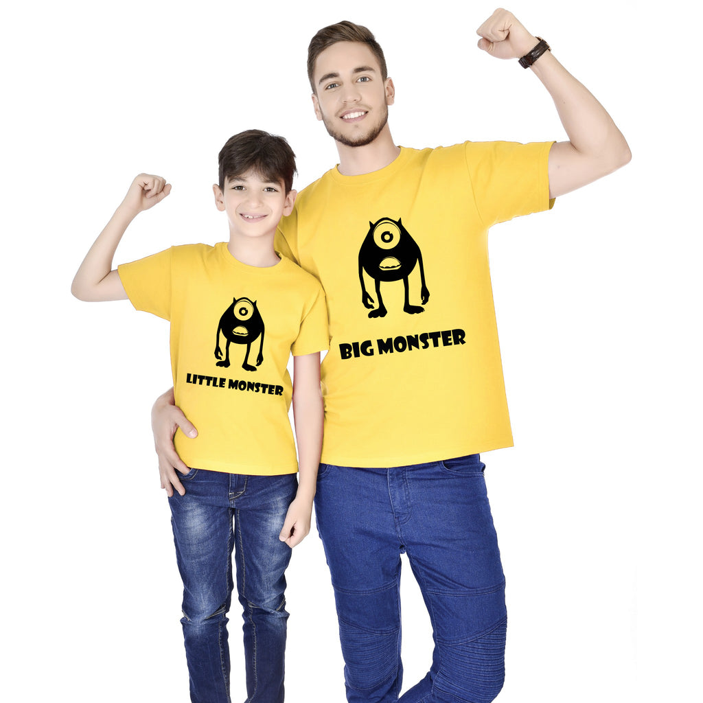 Big Monster/Little Monster Father And Son Tees