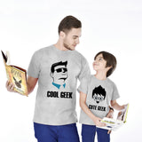 Cool Geek/Cute Geek Father And Son Tees