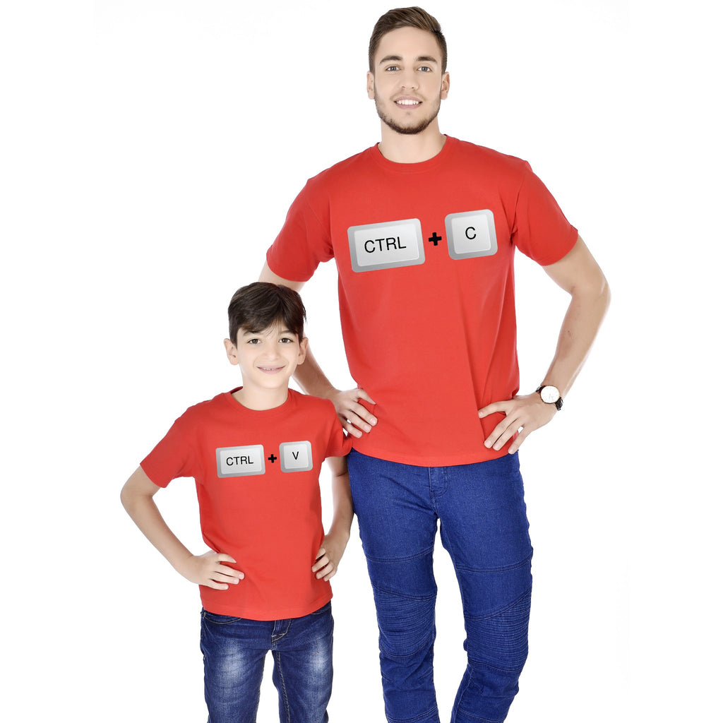 Ctrl C/Ctrl V Father And Son Tees