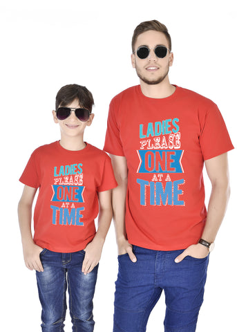 Ladies Please One At A Time Father And Son Tees