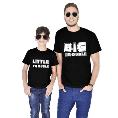 Big Trouble/Little Trouble Father And Son Tees