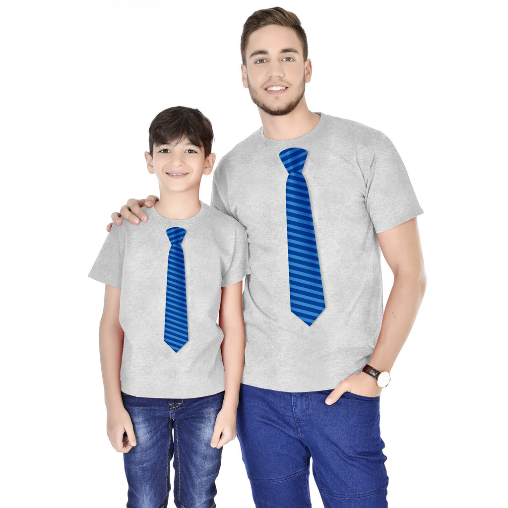 Tie Print Father And Son Tees